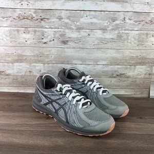 Asics Frequent Trail Womens 7.5 Gray Pink